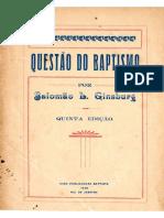 Questões do batismo - Salomão Guinaburg