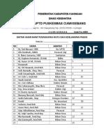 Daftar Hadir Rapat PMKP