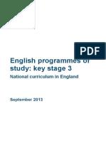 SECONDARY National Curriculum - English2