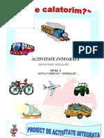 PROIECT DE LECTIE GRADINITA Gradul 2 Mijloace de transport
