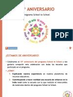 Presentación School to School 11-07-2018 Castellano 10 Aniversario STS Curso 2018-2019