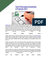 Perhitungan Tarif Pelayanan Kesehatan untuk FasKes Program JKN.doc