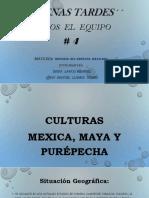 culturas mexicas, maya y purepecha