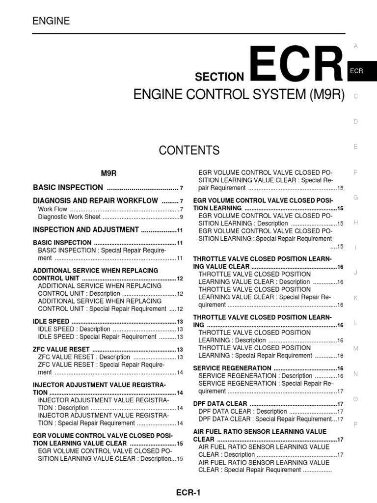 05 -ECR Engine Control System (M9R)   Throttle   Engine