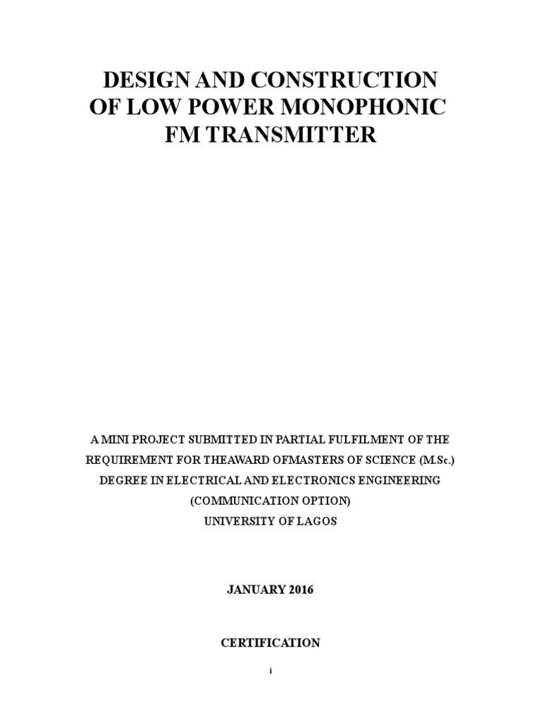 Mini Fm Amplifier Frequency Modulation 2 Transistor Transmitter