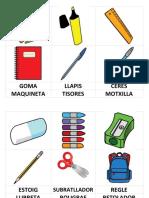 Vocabulari - Material Escolar i Colors