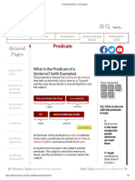 Predicate _ What is a Predicate