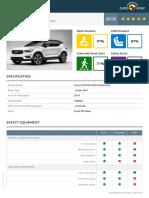 Euroncap 2018 Volvo Xc40 Datasheet
