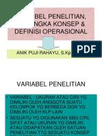 VARIABEL PENELITIAN, KERANGKA KONSEP & DEFINISI OPERASIONAL.ppt