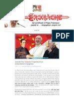 Accordo Cina-Vaticano Superbia Di Un Compromesso Vergognoso