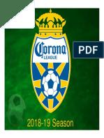 Corona League Launch 18-19