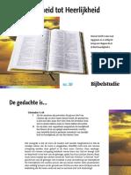 van heerlijkheid tot Heerlijkheid - Bijbelstudie