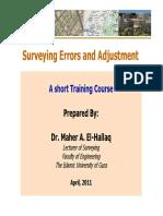 Surveying Errors and Adjustment