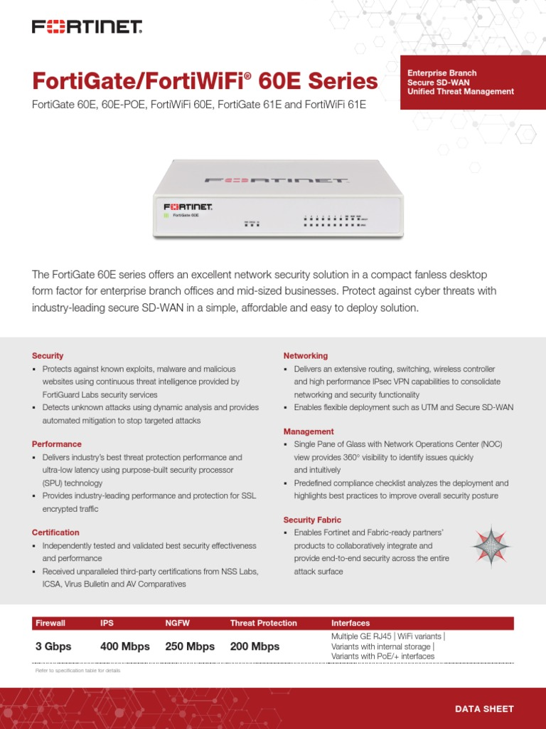 FortiGate FortiWiFi 60E Series | Online Safety & Privacy | Computer