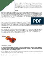 Một số cây violon thương hiệu Lazer ổn định