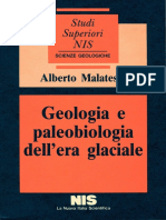 Geol. e Paleobiologia Dell'Era Glaciale