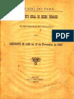 Decreto 1190-1191 de 17 de Fevereiro de 1903 - PARÁ, BRASIL