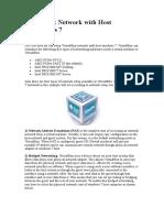 VirtualBox Network With Host Windows 7