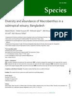 Diversity and Abundance of Macrobentos in a Subtropical Estuary, Bangladesh