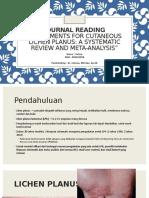 PPT Journal Reading Treatments for Cutaneus Lichen Planus