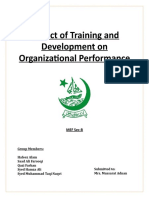 Impact of Training and Development on Organizational Performance
