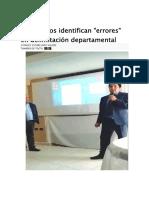 Topógrafos Identifican Errores en Delimitación Departamental