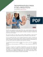 10 DICAS INDISPENSÁVEIS PARA ESCOLHER SEU ARQUITETO!.docx
