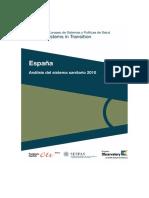 Analisis Del Sistema Sanitario Español