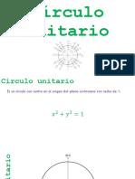P4. Círculo unitario