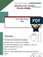 Clase Hidraulica II Practica Dirigida secciones del canal