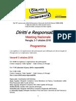Programma Meeting Diritti e Responsabilità marcia della pace
