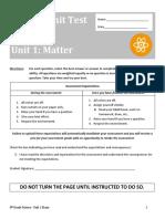 8 science - unit 1 assessment