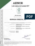 Certificado Fsc Biomasa Forestal 2017