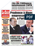 Journal Le Soir Dalgerie Du 02.10.2018