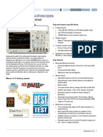 MDO4000 Mixed Domain Oscilloscope Datasheet