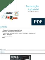 IC 01 Instrumentação Industrial Apresentação