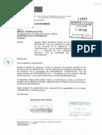 Opinión del Ministerio de Cultura sobre la propuesta de la nueva Ley de Hidrocarburos