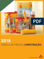 Sika® - Tabela de Preços Construção 2018