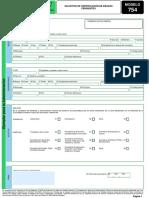 Modelo 754 Certificado Corriente Junta