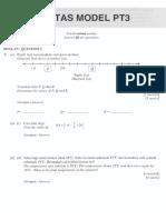 PT3 Maths Model Paper