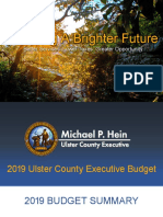 Ulster County 2019 Budget Summary