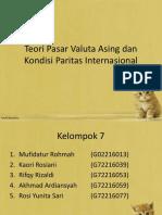 Teori Pasar Valuta Asing dan Kondisi Paritas Internasional.pptx