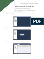 Como Programar Backups Con SQL Server 2012