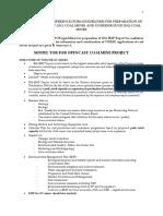 Web Model TOR (Guideline) for OC and UG Mine