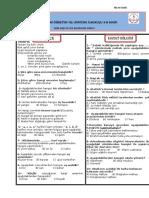3. Sınıf Sene Başı Seviye Belirleme Testi.doc
