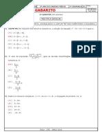 Gabarito Prf Matemática 3º Ano