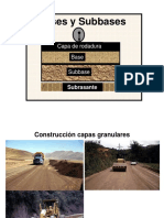 Capa Base y Subbase Granular