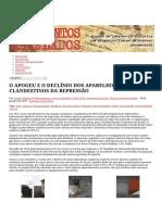 O APOGEU E O DECLÍNIO DOS APARELHOS CLANDESTINOS DA REPRESSÃO _ Documentos Revelados.pdf
