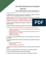 Cuestionario de Transformacion de Polimeros