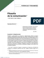 Filosofía de La Comunicación - Francisco Sierra